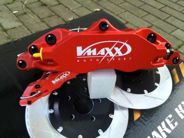 V-Maxx Bremsanlage Rot mit Stahlflex Bremsleitung - Opel Astra G / H - Zafira A / B