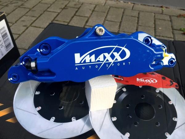V-Maxx Bremsanlage blau mit Stahlflex Bremsleitung - Opel Astra G / H - Zafira A / B