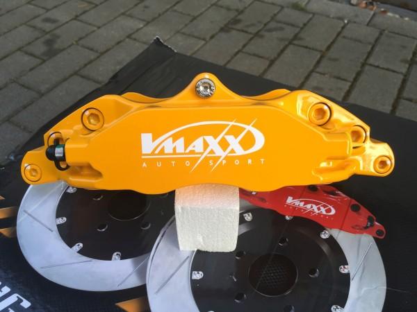 V-Maxx Bremsanlage gelb mit Stahlflex Bremsleitung - Opel Astra G / H - Zafira A / B