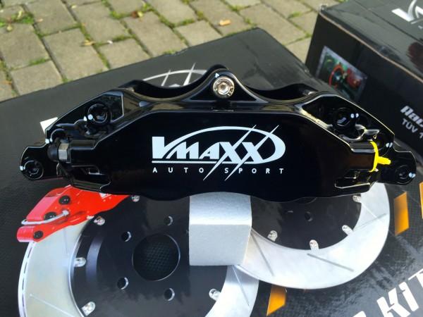 V-Maxx Bremsanlage schwarz mit Stahlflex Bremsleitung - Opel Astra G / H - Zafira A / B