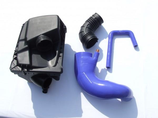Umbauset Kurzer Ansaugweg Blau / Rot Opel Astra G / H ; Zafira A / B mit Luftfilterkasten